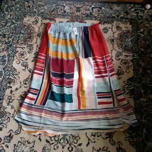 NWT LOFT OUTLET Abstract Colorful Maxi Skirt